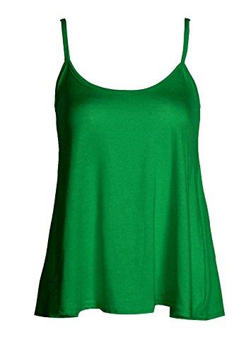 Senza maniche da donna, in Jersey di viscosa-Swing Top-Canottiera Verde