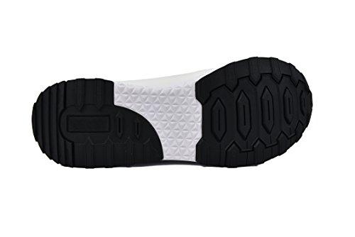 Zerimar Scarpe da Golf Fabbricati in Pelle Bovina Sport e Confortevole Casual Running Bianco