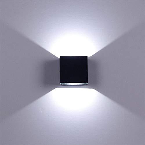Rail Wandleuchte (6W LED Aluminium Wandleuchte, Rail Project Square LED Wandleuchte, Bedside Room Schlafzimmer Wandleuchten Arts, Blackwarm weiß)