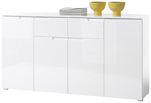 Stella Trading Sideboard, Holz, Weiß, 180 x 38 x 96 cm