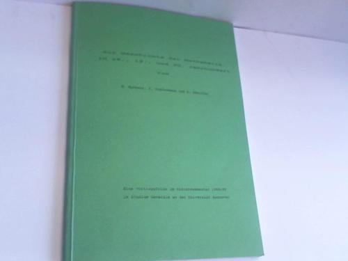 Zur Geschichte der Mathematik im 18., 19., und 20. Jahrhundert. Eine Vortragsfolge im Wintersemester 1988/89 im Studium Generale an der Universität Hannover