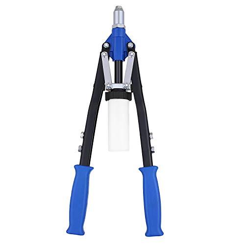 Buyi-World Pince à riveter professionnelle manuelle pour rivets à double poignée Structure compacte/Rivet Pistolet pour réparation avec kit d'accessoires
