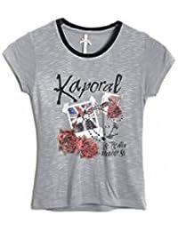 Kaporal 5 - Ilsa grey mel mc tee g - Tee shirt manches courtes