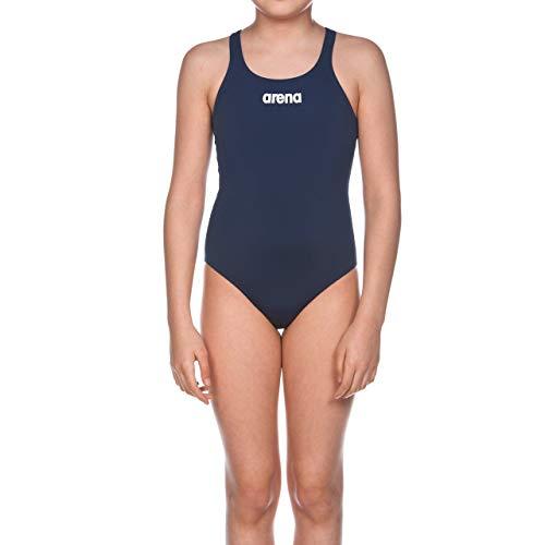 arena Mädchen Trainings Badeanzug Solid Swim Pro, Blau (Navy/Weiß), Gr. 152 (12/13 Jahre)
