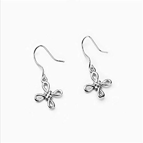 Ohrringe Keltisches Kette Damen Sterling Silber Keltischer Knoten Unendliche Liebe Anhänger Halskette Schmuck für Frauen Mädchen (Ohrring Keltische)