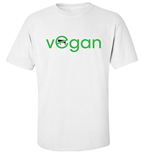Vegan no for animals t-shirt homme blanc coton (S)