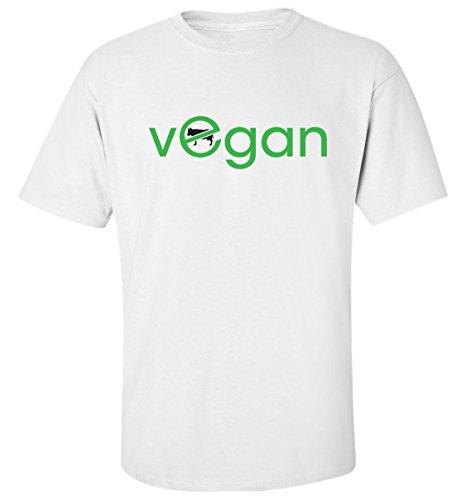Vegan no for animals t-shirt homme blanc coton (S)