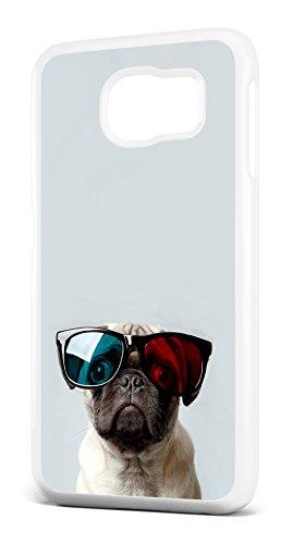 Quirky Funny chien Carlin en 3D Lunettes de soleil Housse/étui pour téléphone SAMSUNG GALAXY S6en plastique rigide transparent