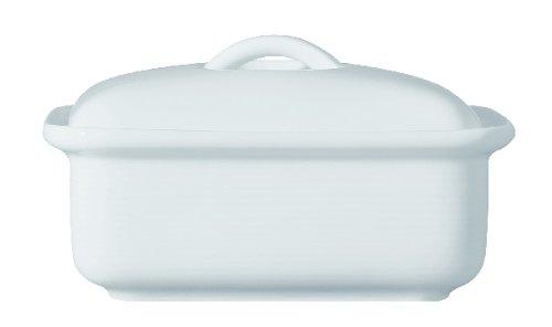 Thomas Trend Weiß - Butterdose mit Deckel für 250 Gramm Butter - Porzelllan (Butterdose Mit Deckel)