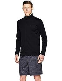Under Armour Sportstyle Pique Track Jacket Chaqueta, Hombre, Negro (Black/Black 001), L