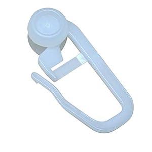 DELFRA 100 Gardinenröllchen – Universal Gardinenrolle mit 8mm Kopf – für Innenlauf mit Faltenhaken