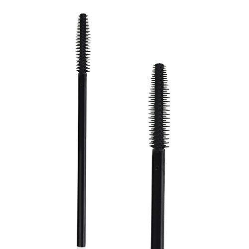 Xmansky Einweg Wimpernbürste Wimpernkam,20 Stck Silikonkopf Einweg-Mascara-Stäbe Wimpernbürsten Lash Extension make-up -