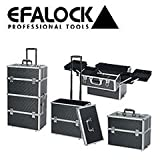 Efalock Alukoffer, Werkzeugkoffer, Trolley, Black Molly Kosmetikkoffer - Efalock