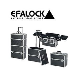 Efalock Alukoffer, Werkzeugkoffer, Trolley, Black Molly Kosmetikkoffer