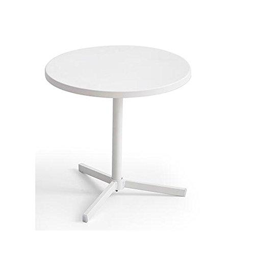 Life tavolino da caffè bianco, tavolino rotondo tavolino da caffè in ferro tavolo da pranzo tavolo da computer 45 * 45 * 45cm