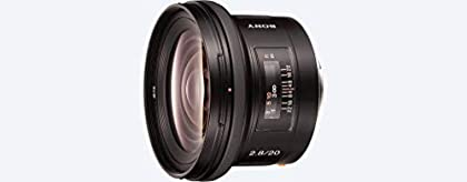 Sony SAL20F28 - Objetivo para Sony (distancia focal fija 20mm, apertura f/2.8-22, diámetro: 72mm) negro