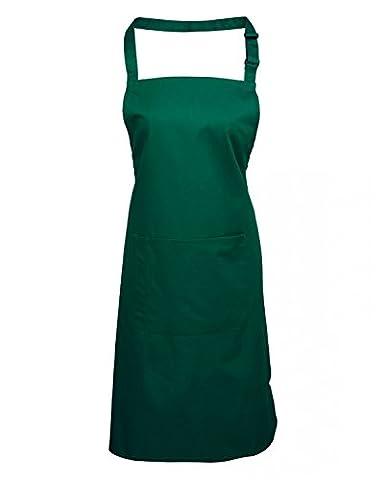 Premier Workwear Adult Unisex PR154 Bib Apron With Pocket - Various Colours Available (Bottle