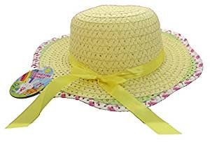 Toyland Springtime Easter Bonnet - Straw Hat with RIbbon - Easter Competition - Easter Hat by Toyland®
