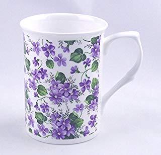 Feines Englisches Bone China Becher-Wild Violet Chintz-Adderley Fine Bone China, England Adderley Violett