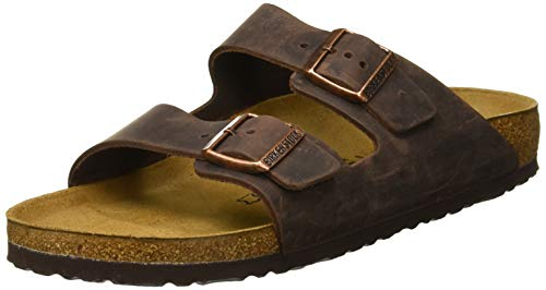 Birkenstock Arizona, Sandali unisex adulto, marrone (habana oiled leather), 42 (Stretto)