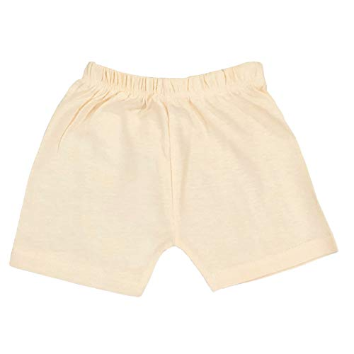 CLAP Regular Wear Plain Cotton Hosiery Shorts Nikar Half Pants for Baby Boys & Baby Girls/Combo Pack of 8 - Multicolour (6-9 Months)