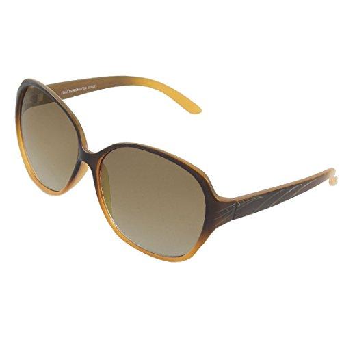 Frau Two Tone Braun Kunststoff Full Frame Sonnenbrillen Brillen