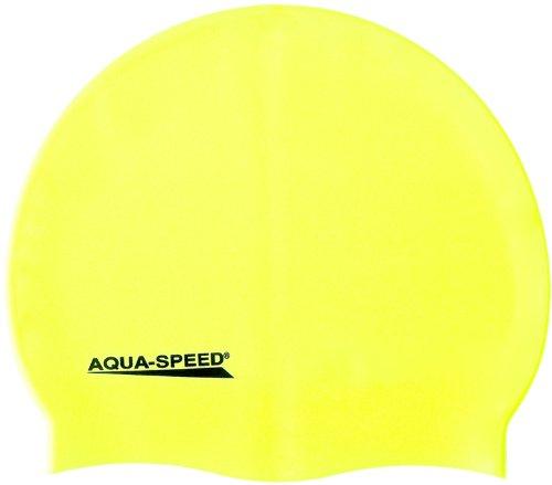 Aqua Speed - Bademütze/Schwimmkappe - Super-stretch Mega 100-18 (gelb)
