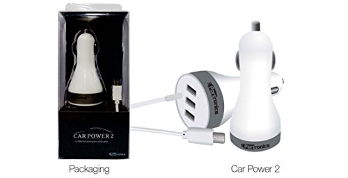 Portronics Car Power 2 - 3 Usb Port With Lightning Connector & 4.8A Output Por 342  available at amazon for Rs.449
