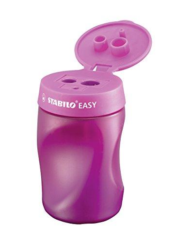 Ergonomischer Dosen-Spitzer für Rechtshänder - STABILO EASYsharpener - 3 in 1 - pink