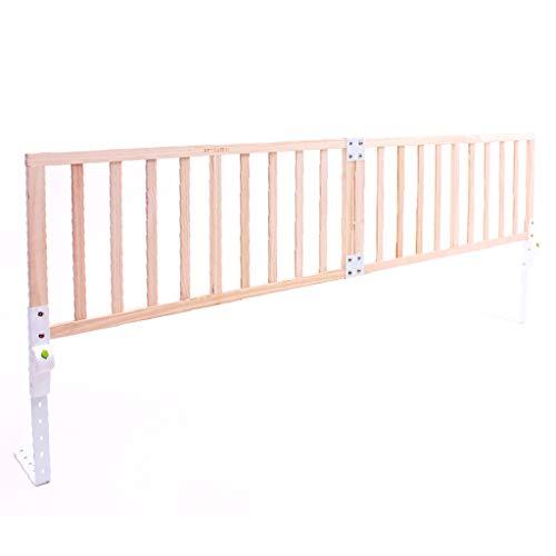 Bettgitter Bettschutzgitter Holz extra Lange Kinderbett Schiene für Queen-Size-Bett Twin XL rosa Verstellbare Swing-Down-Geländer für Mädchen Kinder (Farbe : Style-2, größe : Length 200cm) - Bettgitter Queen-bett