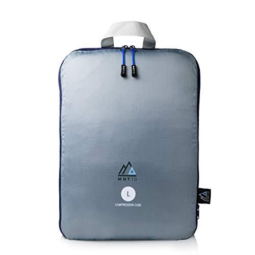 MNT10 Packtaschen mit Kompression I Packwürfel mit Schlaufe als Koffer-Organizer I leichte Kompressionsbeutel für den Rucksack I Kleidertaschen als Gepäck Organizer auf Reisen | Packing Cubes (L)