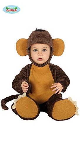 Fiesta Guirca Affen-Baby Kleinkind-Kostüm Overall braun 92 (1-2 Jahre) (Affen Kostüm Kleinkind)