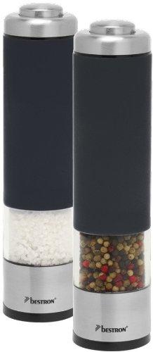 Bestron APS526Z - Juego de molinillos de sal y pimienta