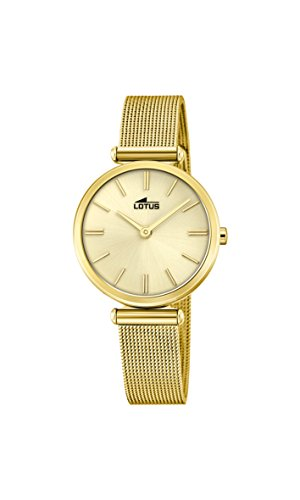 Lotus Watches Womens Analogue Classic Quartz Watch with Stainless Steel Strap 18539/1