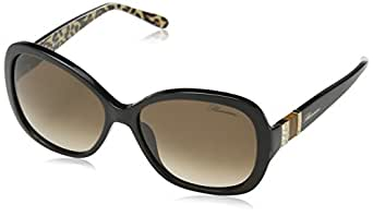 Blumarine Sbm622T, Occhiali da Sole Donna, Brown (Shiny Black), Unica