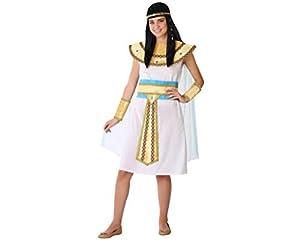 Atosa-61604 Atosa-61604-Disfraz Egipcia- ADOLESCENTE- Mujer- blanco, Color (61604)