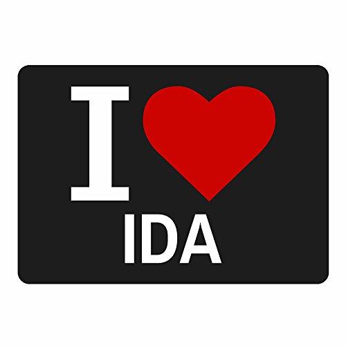 Mousepad Classic I Love Ida schwarz