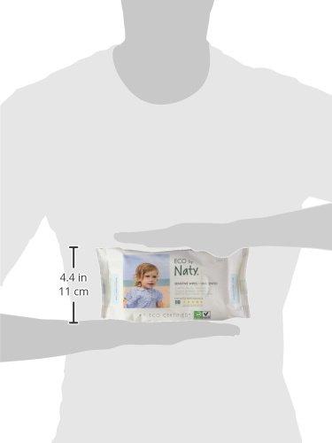 Naty by Nature Babycare Öko Feuchttücher Unparfümiert, 12er Pack (12 x 56 Stück) - 8