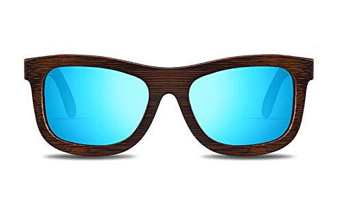 ZJXHAO Premium Polarized Holz-Sonnenbrille für Männer und Frauen mit 9 Layered Lens | Holz-Sonnenbrillen mit Verzerrung frei, Anti-Reflective & Anti-Scratch Lens-Light Weight Bamboo,C1