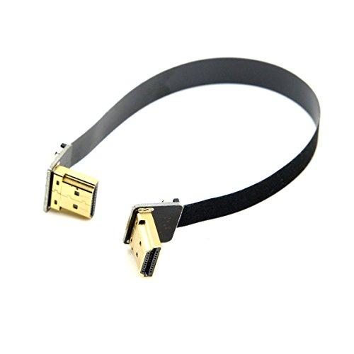 Flaches Kabel mit angewinkeltem HDMI-Stecker, CY, FPV, Dual, 90Grad angewinkelt, HDMI Typ-A Stecker Hdmi-hdmi-flachkabel