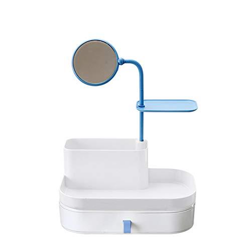 I Storage Kosmetische Aufbewahrungsbox mit 360 Grad drehbarer Spiegelschublade Exquisite Verpackungsbox für Frauen (Farbe : B, größe : 270mm*190mm*370mm) (Parfum Frauen B-exquisite)