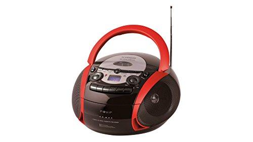 NEVIR RADIO CD CASSETTE CON USB COLOR ROJO MODEL NVR-482UCM
