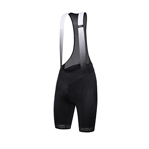 Santini 365 Men's Fase Bib Shorts, Black, Medium