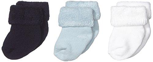 Melton - Babysocken  Terry 3er Pack, Calze, unisex, blu (blau  (marine 285)), Taglia produttore: ONE SIZE
