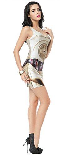 Thenice, sexy Kleid, figurbetont, elastisch, ärmellos Swirl