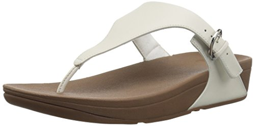 FitFlop Damen Skinny Leather Toe-Thong Sandals Peeptoe, Weiß (Urban White 194), 37 EU (Leder Brookfield)