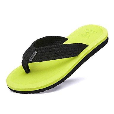 Sandales d'été chaussures d'hommes dehors / Casual Style Tissu été plage Tong Noir / Brun / Vert / Jaune Brown