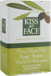 Kiss My Face Bar Soap, 8.0 oz, Pure Olive Oil. 1-Bar