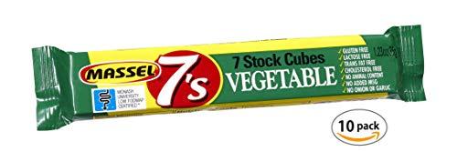Massel 7's, Vegan Bouillon Stock Cubes - Gluten-Free, Vegetable Broth Flavour - 35g, Pack of 10 Soup Stock