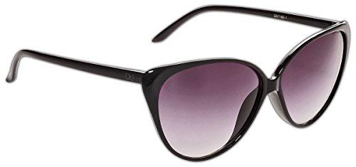 Dice, occhiali da sole donna, nero (shiny black/dark grey), taglia unica